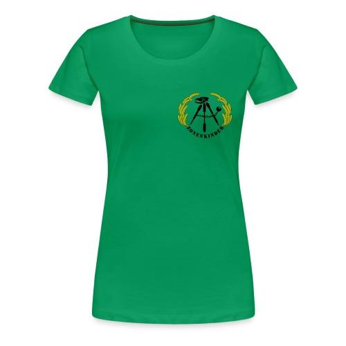 Logo Shirt Frauen, grün - Frauen Premium T-Shirt