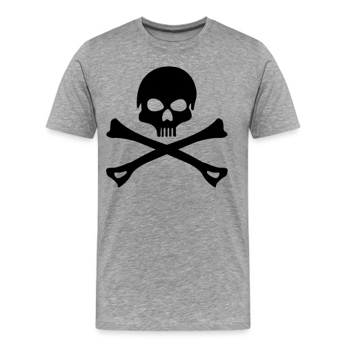Skull Shirt Grau - Männer Premium T-Shirt