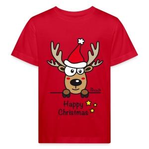 Tee shirt Bio Enfant, Baby Renne, Noël - Happy Christmas - T-shirt bio Enfant