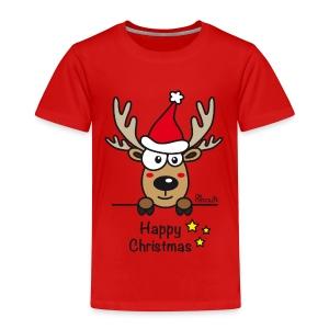 Tee shirt Premium Enfant, Baby Renne, Noël - Happy Christmas - T-shirt Premium Enfant