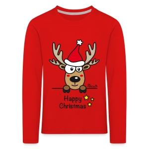 Tee shirt manches longues Premium Enfant, Baby Renne, Noël - Happy Christmas - T-shirt manches longues Premium Enfant