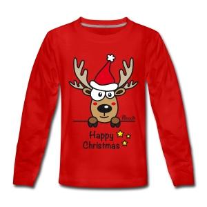 Tee shirt manches longues Premium Ado, Baby Renne, Noël - Happy Christmas - T-shirt manches longues Premium Ado