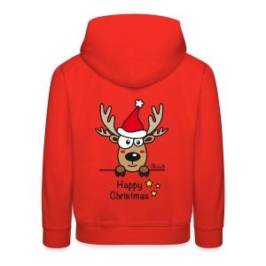 Pull à capuche Premium Enfant, Baby Renne, Noël - Happy Christmas - Pull à capuche Premium Enfant