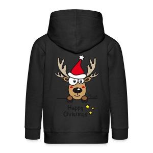 Veste à capuche Premium Enfant, Baby Renne, Noël - Happy Christmas - Veste à capuche Premium Enfant