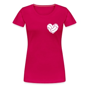 Volleyherz - Frauen Premium T-Shirt