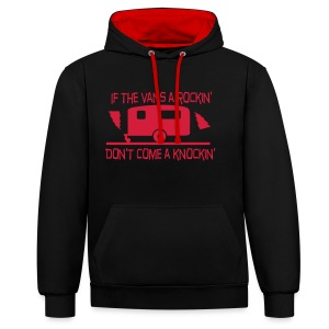 Unisex Hoodie - If the Vans Rockin - Don't come knockin  - Contrast Colour Hoodie