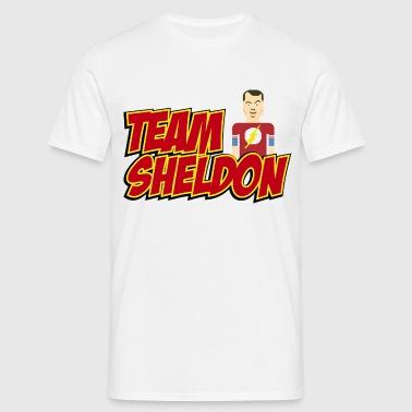 Tee shirt Homme Team Sheldon Comic - T-shirt Homme