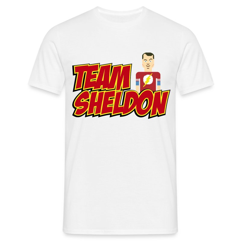 m nner t shirt team sheldon comic t shirt spreadshirt. Black Bedroom Furniture Sets. Home Design Ideas