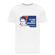 T-Shirts ~ Men's Premium T-Shirt ~ Stand with Snowden Men's T-Shirt