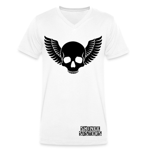 Shinee Sisters Skull Wing T-Shirt - Men's Organic V-Neck T-Shirt by Stanley & Stella