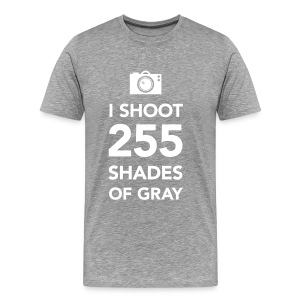 255 shades of gray - Mannen Premium T-shirt