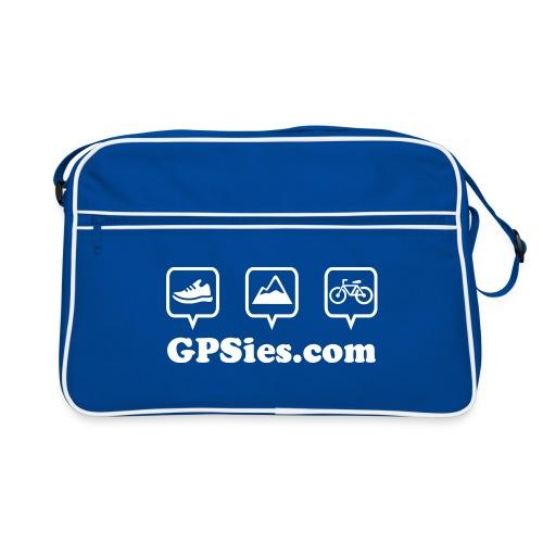 GPSies Retro Tasche blau - Retro Tasche