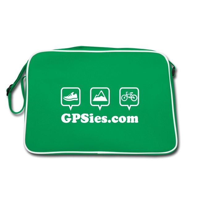 GPSies Retro Tasche grün