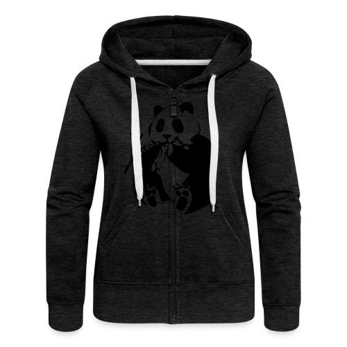 panda - Women's Premium Hooded Jacket