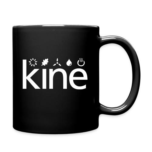 Logo-Tasse schwarz - Tasse einfarbig