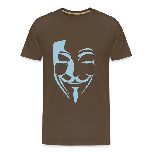Anonymous Marron/Bleu - T-shirt Premium Homme