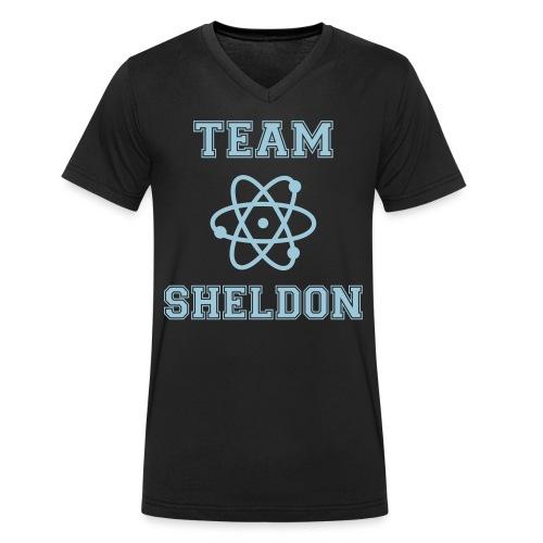 Sheldon Noir/Bleu - T-shirt bio col V Stanley & Stella Homme