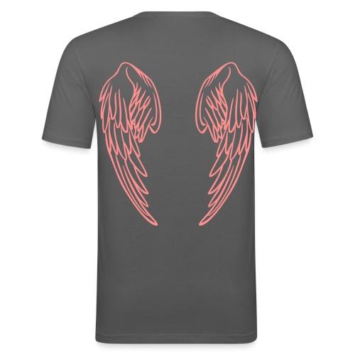 Anges Gris/Rose - T-shirt près du corps Homme