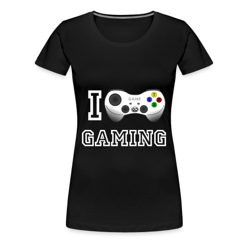 I love Gaming T-Shirt - Frauen Premium T-Shirt