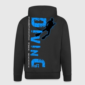 Diving - protects the reefs Pullover & Hoodies - Männer Premium Kapuzenjacke