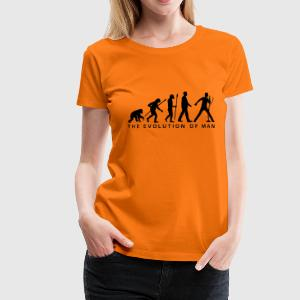 evolution_of_man_singervocalist_112014_a T-Shirts - Frauen Premium T-Shirt