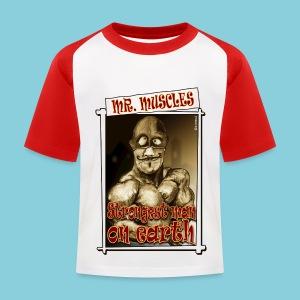 Kid's T-shirt Muscle man - Kids' Baseball T-Shirt