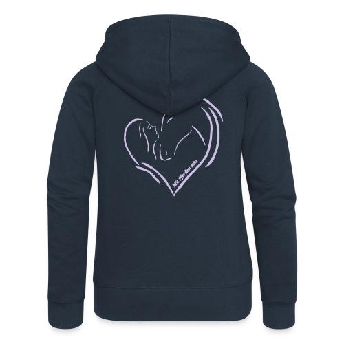 MPS Logoschriftzug & Heart - Zipper (Women Fit) - Print: Lavendel - Frauen Premium Kapuzenjacke