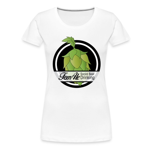 FemAle - Vit Dam - Premium-T-shirt dam