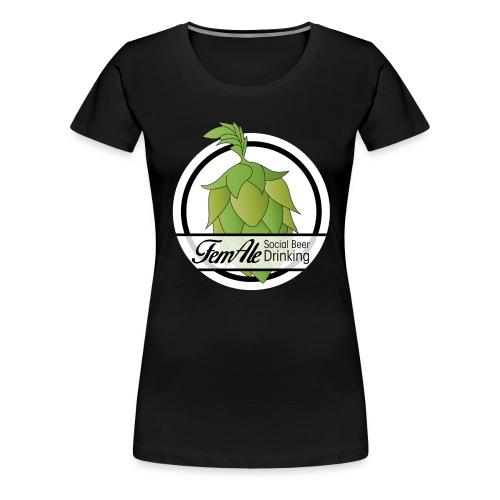 FemAle - Svart Dam - Premium-T-shirt dam