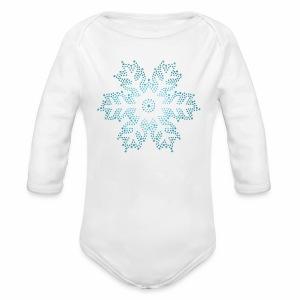 Schneestern, Weihnachten - Baby Bio-Langarm-Body