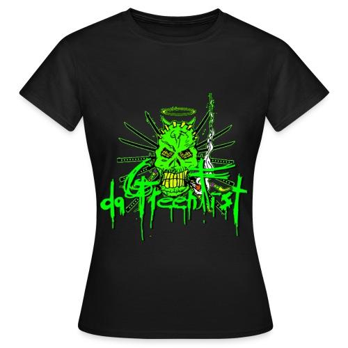 GF da GreenFist SKULL 2 T - Shirt  Colors for babes - Women's T-Shirt