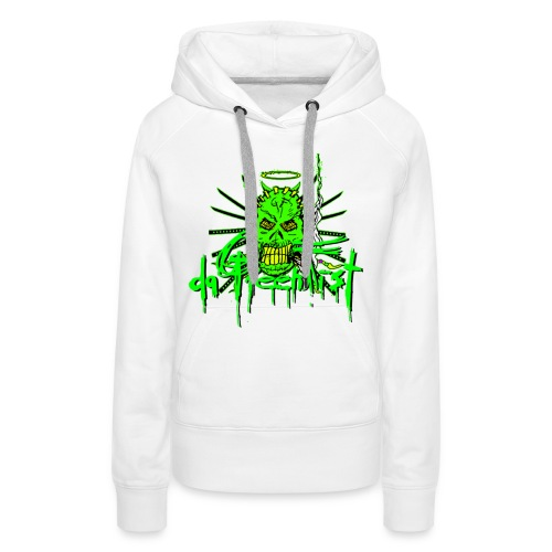 GF da GreenFist SKULL 2 Hoody COLOR for babes - Women's Premium Hoodie