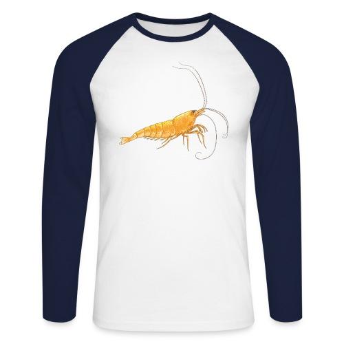 T-shirt crevette homme  - T-shirt baseball manches longues Homme