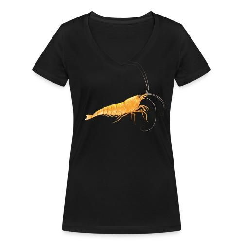 T-shirt crevette femme  - T-shirt bio col V Stanley & Stella Femme