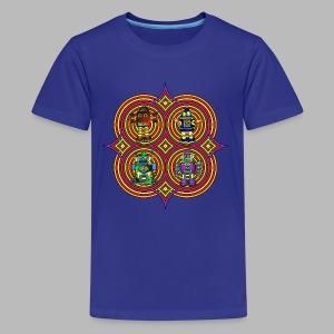 RETRO ROBOTS --------(9yrs-14yrs) - Teenage Premium T-Shirt