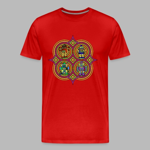 RETRO ROBOTS - Men's Premium T-Shirt