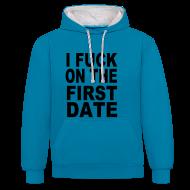Pullover & Hoodies ~ Kontrast-Kapuzenpullover ~ sling kapuze-fuck first date