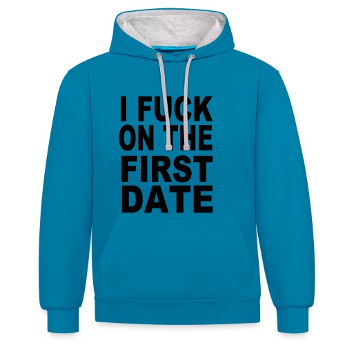sling kapuze-fuck first date - Kontrast-Hoodie