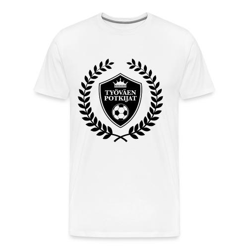 Työväen potkijat - Miesten premium t-paita