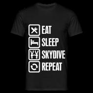 Tee shirts ~ Tee shirt Homme ~ Eat Sleep Skydive Repeat