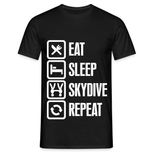 Eat Sleep Skydive Repeat - T-shirt Homme