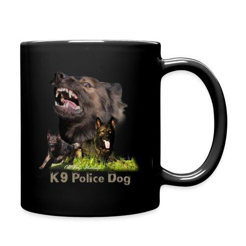 Schäferhund-Police K9-Motiv - Tasse einfarbig