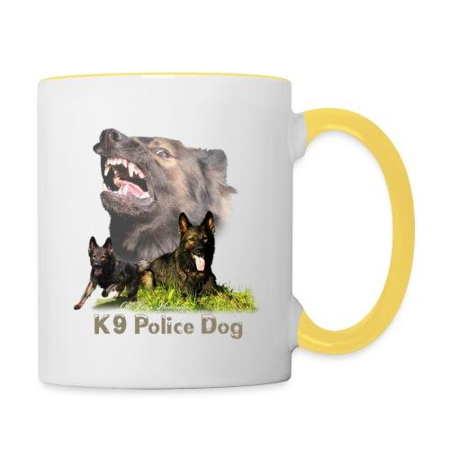 Schäferhund-Police K9-Motiv - Tasse zweifarbig