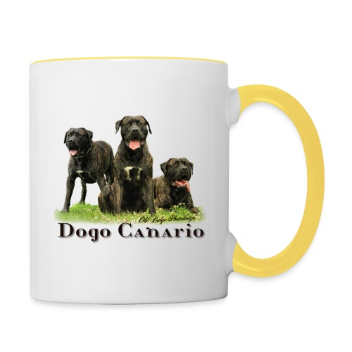 Rasse-Motiv Dogo Canario - Tasse zweifarbig