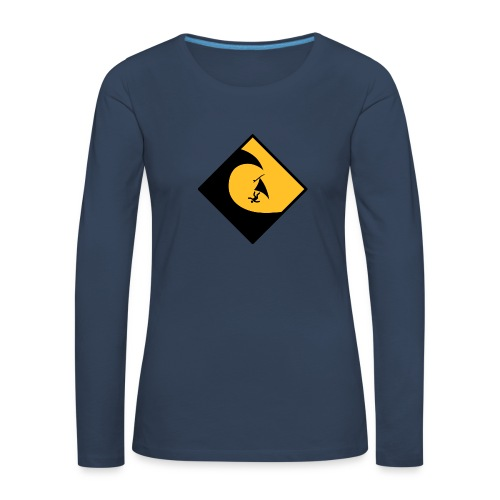 Danger High Surf T-Shirt - Frauen Premium Langarmshirt