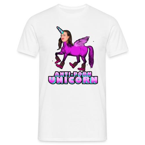 Anti-Porn Unicorn - Men's T-Shirt