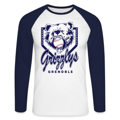 T-SHIRT BASEBALL - T-shirt baseball manches longues Homme
