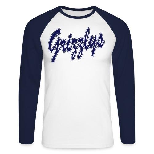 T-SHIRT BASEBALL LETTER - T-shirt baseball manches longues Homme