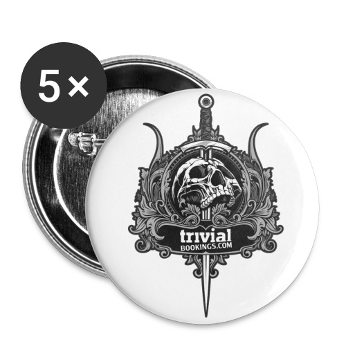 Trivial Badge Skull Pack 5 - Badge grand 56 mm