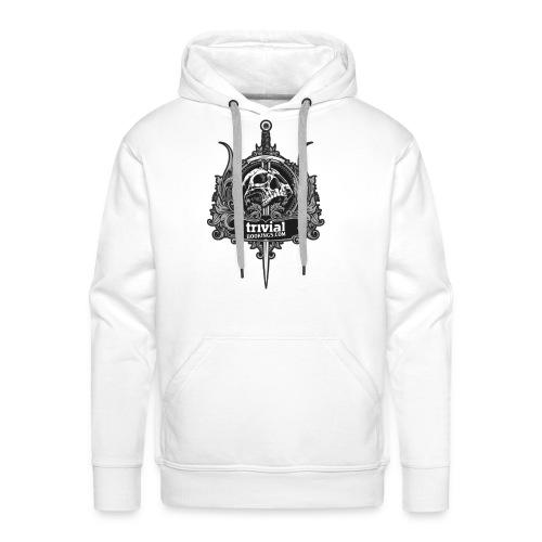 Trivial sweatCap Skull white (1Face) - Sweat-shirt à capuche Premium pour hommes